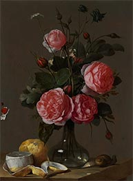 Floral Still Life, c.1670/90 by Cornelis de Heem | Painting Reproduction