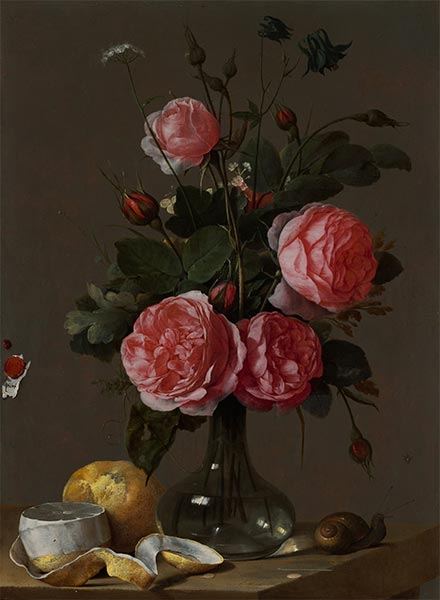 Floral Still Life, c.1670/90 | Cornelis de Heem | Painting Reproduction