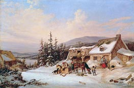 Quebec | Cornelius Krieghoff | Painting Reproduction