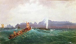A Whaling Scene, Undated by Cornelius Krieghoff | Painting Reproduction