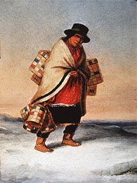 The Basket Seller, c.1850 by Cornelius Krieghoff | Painting Reproduction