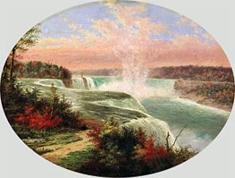 The Artist at Niagara, Undated von Cornelius Krieghoff | Gemälde-Reproduktion