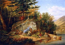 Chippewa Indians at Lake Huron | Cornelius Krieghoff | Painting Reproduction