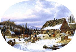 Settler's House, Laval | Cornelius Krieghoff | Painting Reproduction