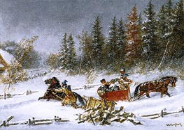 A Winter Incident | Cornelius Krieghoff | Painting Reproduction