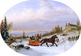 Habitants Returning from Town | Cornelius Krieghoff | Painting Reproduction