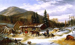 Bringing in the Deer | Cornelius Krieghoff | Painting Reproduction