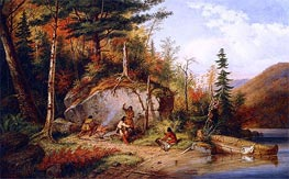 Canadian Autumn, View on the Road to Lake St. John | Cornelius Krieghoff | Gemälde Reproduktion