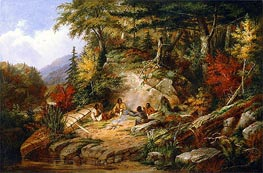 Chippewas on Lake Superior | Cornelius Krieghoff | Painting Reproduction