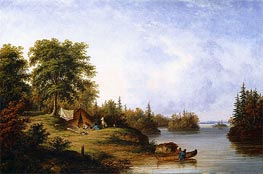In the Thousand Islands | Cornelius Krieghoff | Painting Reproduction