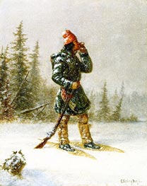 Calling the Moose | Cornelius Krieghoff | Painting Reproduction