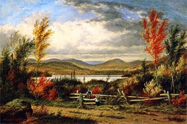 Lac Laurent: Autumn, 1862 by Cornelius Krieghoff | Painting Reproduction