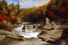 The St. Anne Falls near Quebec from Above and Looking Upward, c.1854/55 by Cornelius Krieghoff | Painting Reproduction