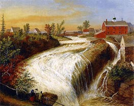 Falls of Lorette, near Quebec, 1854 by Cornelius Krieghoff | Painting Reproduction