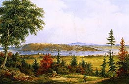Quebec from Pointe-Lévis | Cornelius Krieghoff | Painting Reproduction