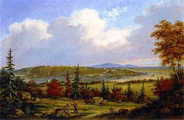 Quebec Viewed from Pointe-Lévis, 1853 by Cornelius Krieghoff | Painting Reproduction