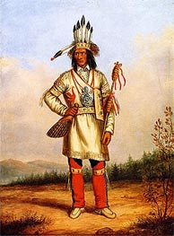 Chief Tanaghte, Delegate to Lord Elgin at Montreal | Cornelius Krieghoff | Painting Reproduction
