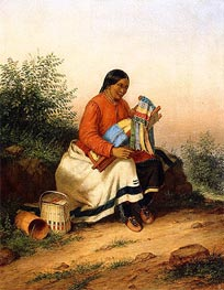 Caughnawaga Woman and Baby, c.1849 by Cornelius Krieghoff | Painting Reproduction