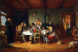 Breaking Lent (A Friday's Surprise), 1847 by Cornelius Krieghoff | Painting Reproduction