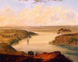 The Plains of Babylon, 1846 by Cornelius Krieghoff | Painting Reproduction
