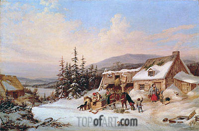Quebec, 1858 | Cornelius Krieghoff | Painting Reproduction