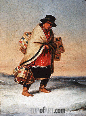 The Basket Seller, c.1850 | Cornelius Krieghoff | Painting Reproduction