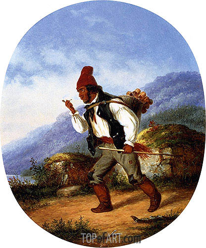 The Berry Seller, 1860 | Cornelius Krieghoff | Painting Reproduction