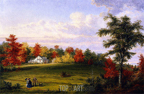 The Country House of Capt. John Walker, near Quebec, 1857 | Cornelius Krieghoff | Gemälde Reproduktion