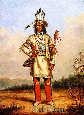 Chief Tanaghte, Delegate to Lord Elgin at Montreal, c.1849 | Cornelius Krieghoff | Painting Reproduction