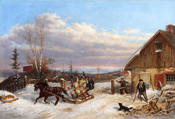 Running the Toll Gate, 1860 | Cornelius Krieghoff | Painting Reproduction