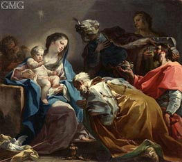 Adoration of the Magi, c.1725 von Corrado Giaquinto | Gemälde-Reproduktion