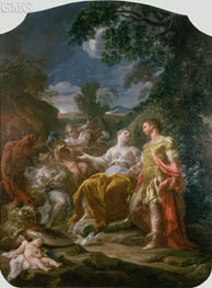 Mars and Venus with Cupids, undated by Corrado Giaquinto | Painting Reproduction