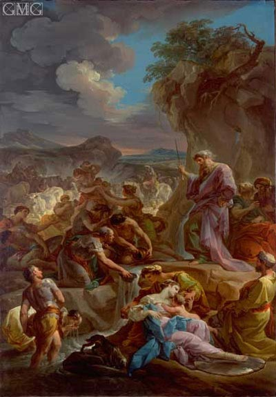 Moses Striking the Rock, c.1743/44 | Corrado Giaquinto | Gemälde Reproduktion