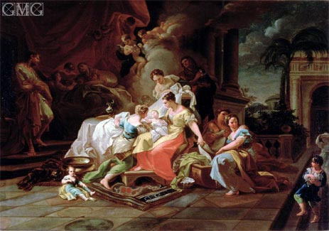The Birth of Mary, c.1753 | Corrado Giaquinto | Painting Reproduction
