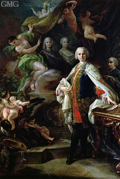 Portrait of Carlo Broschi - Il Farinelli, c.1746 | Corrado Giaquinto | Painting Reproduction