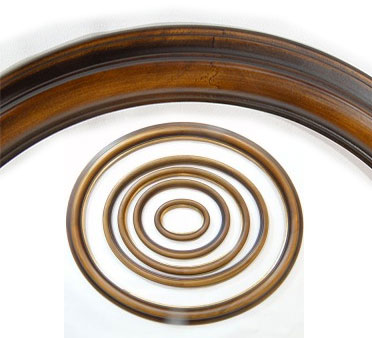 Oval Wooden Frame, Undated | Custom Frame | Painting Reproduction