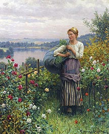 The Rose Garden, Undated von Daniel Ridgway Knight | Gemälde-Reproduktion
