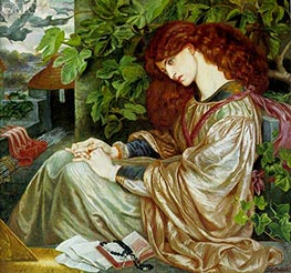 La Pia de' Tolomei, c.1868/80 by Rossetti | Painting Reproduction
