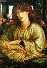La Donna della Finestra (The Lady of the Window) | Rossetti | Painting Reproduction