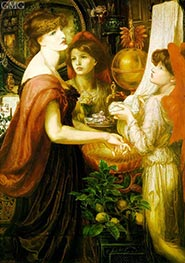 The Beautiful Hand (La Bella Mano) | Rossetti | Painting Reproduction