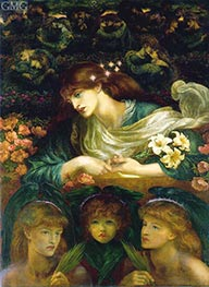 The Blessed Damozel, c.1871/78 by Rossetti | Painting Reproduction