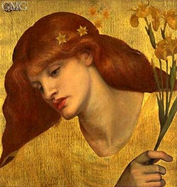 Sancta Lilias, 1874 by Rossetti | Painting Reproduction
