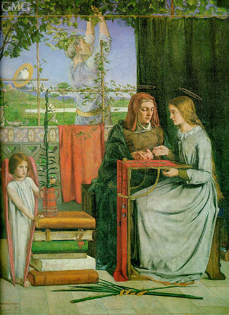 The Childhood of Mary Virgin, c.1848/49 | Rossetti | Painting Reproduction