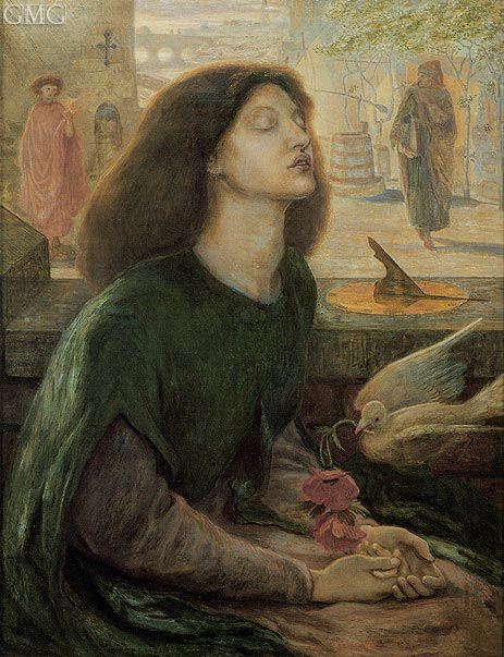 Beata Beatrix (Blessed Beatrice), c.1877/82 | Rossetti | Painting Reproduction