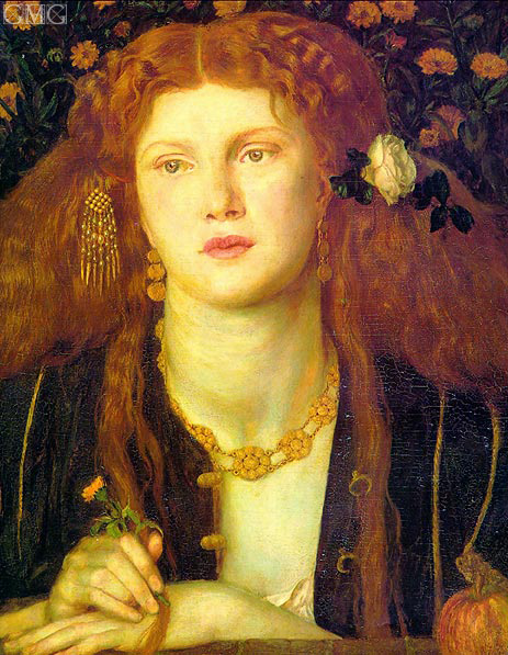 Bocca Baciata (The Kissed Mouth), 1859 | Rossetti | Painting Reproduction
