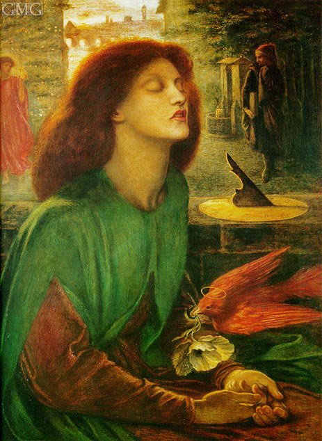 Beata Beatrix (Blessed Beatrice), c.1864/70 | Rossetti | Painting Reproduction
