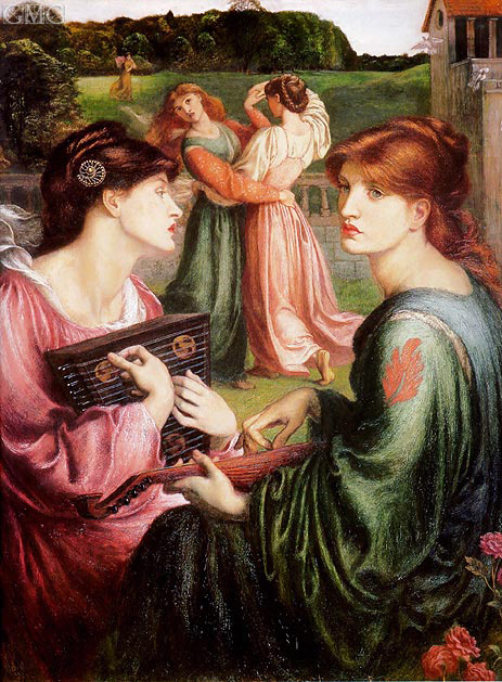 The Bower Meadow, c.1871/72 | Rossetti | Gemälde Reproduktion