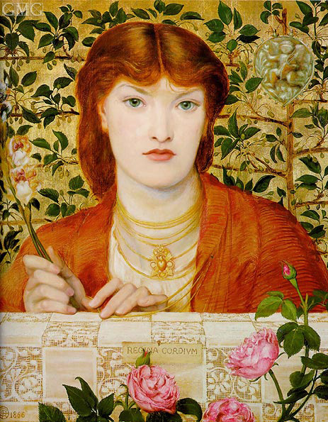 Regina Cordium, 1866 | Rossetti | Painting Reproduction
