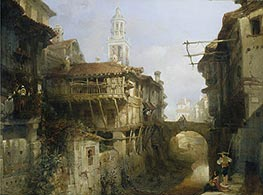 Old Buildings on the Darro, Granada, 1834 von David Roberts | Gemälde-Reproduktion