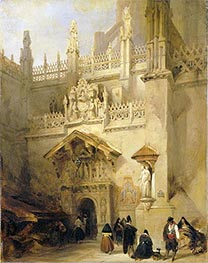 Granada: the Chapel of Ferdinand and Isabella, 1838 by David Roberts | Painting Reproduction